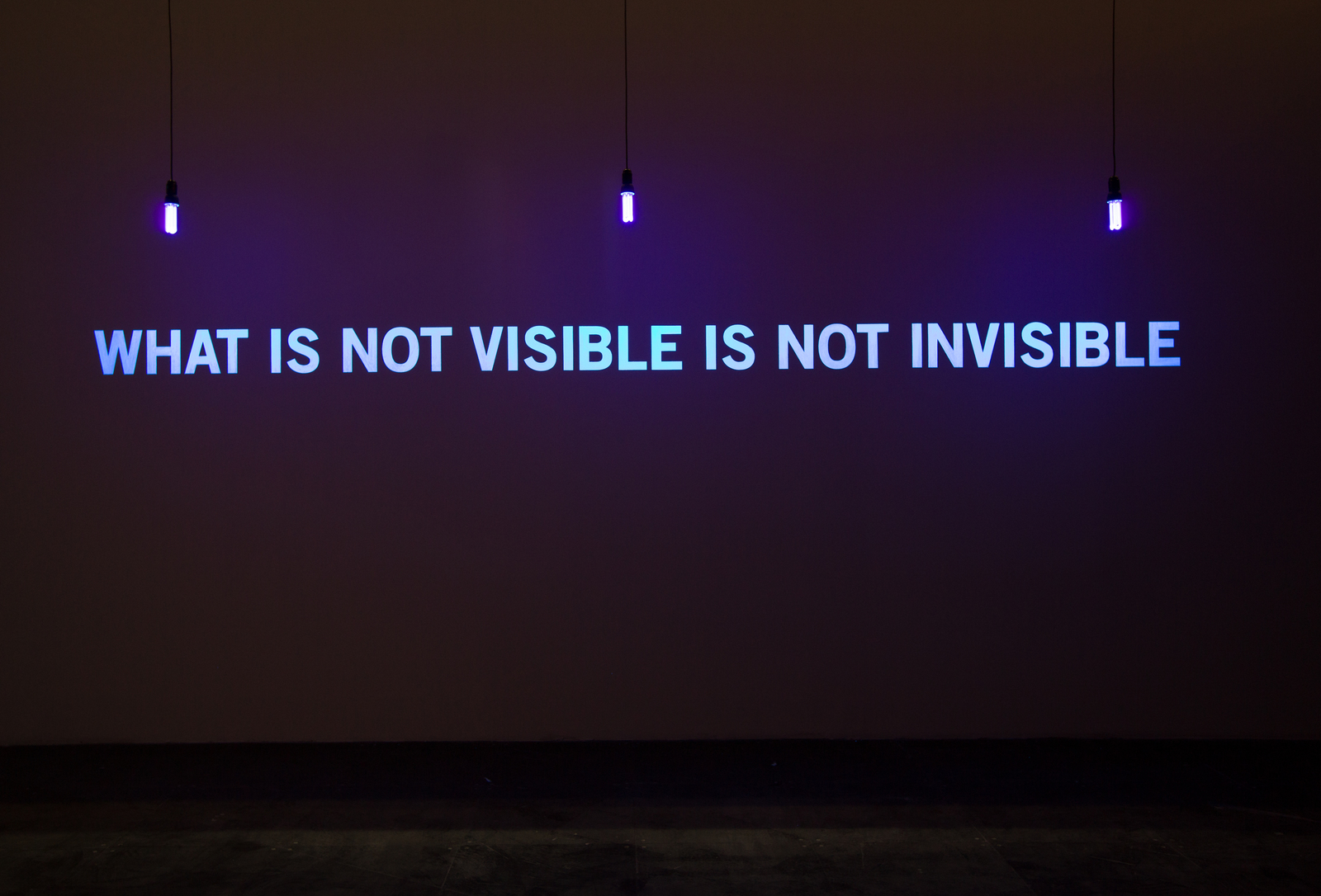What is not visible is not invisible, 2008